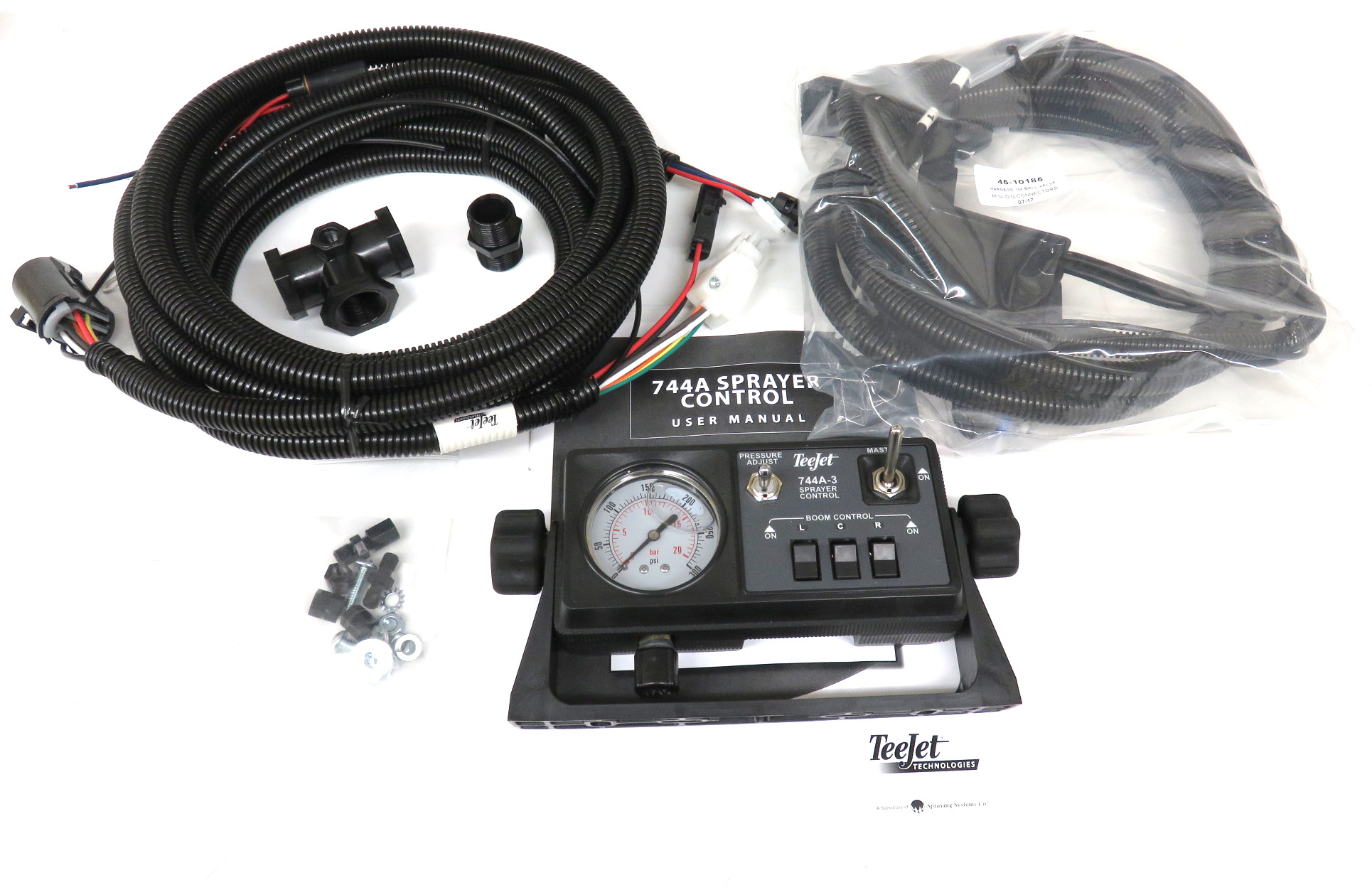90-50151-md, 744a kit w/300 psi gauge, mini-din ball valve harness, no  regulator, no valves