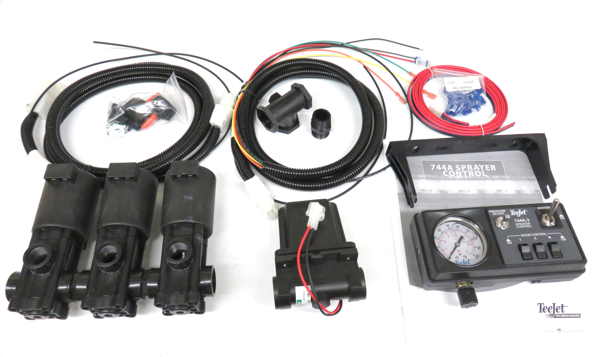 90 50177, 744a kit w 100 psi gauge, solenoid harness, 3 4\
