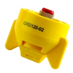 GRD120-02, SIZE 02 120° GUARDIAN FASTCAP SPRAY TIP NOZZLE YELLOW