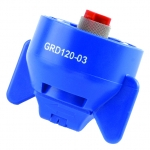 GRD120-03, SIZE 03 120° GUARDIAN FASTCAP SPRAY TIP NOZZLE BLUE