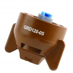 GRD120-05, SIZE 05 120° GUARDIAN FASTCAP SPRAY TIP NOZZLE BROWN