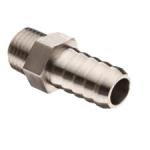 "9A3812, 3/8"" MPT X 1/2"" HOSE BARB STAINLESS STEEL"