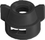 25600-1-NYR, BLACK FLOOD CAP (WITH GASKET)