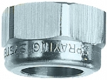 "CP1325-SS, 11/16"" THREADED NOZZLE CAP STAINLESS STEEL"