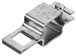 "QJ111SQ-1-1/4-304SS, STAINLESS BOOM CLAMP 1-1/4"" SQUARE TUBE WITH SQUARE HOLE"