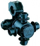 "QJ364C-1-NYB, 4 OUTLET NOZZLE BODY FOR 1"" PIPE"