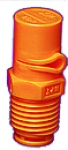 "1/4XP10L-VP, SIZE 10 XP BOOMJET BOOMLESS NOZZLE LEFT NOZZLE 1/4"" NPT ORANGE (CALL OR EMAIL FOR REGULAR PRICING)"