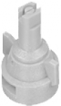 AIC11008-VP, SIZE 08 110° AIR INDUCTION SPRAY TIP & CAP NOZZLE POLY WHITE (CALL OR EMAIL FOR REGULAR PRICING)