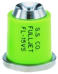 FL-15VS, SIZE 15 FULLJET WIDE ANGLE FULL CONE SPRAY TIP NOZZLE STAINLESS LIGHT GREEN (CALL OR EMAIL FOR REGULAR PRICING)