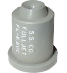 FL-6.5VC, SIZE 6.5 FULLJET WIDE ANGLE FULL CONE SPRAY TIP NOZZLE GREY (CALL OR EMAIL FOR REGULAR PRICING)