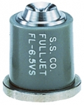 FL-6.5VS, SIZE 6.5 FULLJET WIDE ANGLE FULL CONE SPRAY TIP NOZZLE STAINLESS GREY (CALL OR EMAIL FOR REGULAR PRICING)