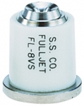 FL-8VS, SIZE 8 FULLJET WIDE ANGLE FULL CONE SPRAY TIP NOZZLE STAINLESS WHITE (CALL OR EMAIL FOR REGULAR PRICING)