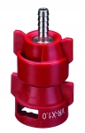 QJ-VR-X1.0-1/4-SS, VARIABLE RATE NOZZLE WITH 1/4 STAINLESS BARB, .13 - 1.036 GPM (RED)
