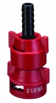 QJ-VR-X1.0-3/8-NYB, VARIABLE RATE NOZZLE WITH 3/8 BARB, .13 - 1.036 GPM (RED)