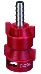 QJ-VR-X1.0-3/8-SS, VARIABLE RATE NOZZLE WITH STAINLESS 3/8 BARB, .13 - 1.036 GPM (RED)