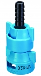 QJ-VR-X2.0-3/8-NYB, VARIABLE RATE NOZZLE WITH 3/8 BARB, .27 - 2.18 GPM (BLUE)