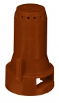 SJ7-05-VP, SIZE 05 STREAMJET 7 ORIFICE TIP NOZZLE BROWN