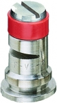 TF-VS2, SIZE 2 TURBO FLOODJET TIP NOZZLE STAINLESS STEEL RED