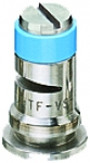 TF-VS5, SIZE 5 TURBO FLOODJET TIP NOZZLE STAINLESS STEEL LIGHT BLUE