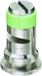 TF-VS7.5, SIZE 7.5 TURBO FLOODJET TIP NOZZLE STAINLESS STEEL LIGHT GREEN