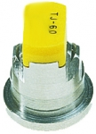 TJ60-8002EVS, SIZE 02 80° TWINJET EVEN FLAT SPRAY TIP NOZZLE STAINLESS STEEL YELLOW (CALL OR EMAIL FOR REGULAR PRICING)