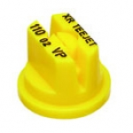 XR11002-VP, SIZE 02 110° EXTENDED RANGE FLAT SPRAY TIP NOZZLE POLY YELLOW