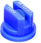 XR11003-VP, SIZE 03 110° EXTENDED RANGE FLAT SPRAY TIP NOZZLE POLY BLUE