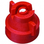 XRC11004-VK, SIZE 04 110° EXTENDED RANGE FLAT SPRAY TIP & CAP NOZZLE CERAMIC RED (CALL OR EMAIL FOR REGULAR PRICING)