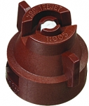 XRC11005-VK, SIZE 05 110° EXTENDED RANGE FLAT SPRAY TIP & CAP NOZZLE CERAMIC BROWN (CALL OR EMAIL FOR REGULAR PRICING)