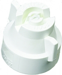 XRC11008-VK, SIZE 08 110° EXTENDED RANGE FLAT SPRAY TIP & CAP NOZZLE CERAMIC WHITE (CALL OR EMAIL FOR REGULAR PRICING)