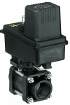 "344BE-24-COC, 1"" FPT ELECTRIC ON/OFF VALVE E SERIES (REVERSING POLARITY) WITH WEATHERPACK SHROUD"