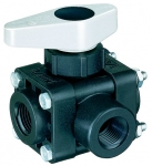 "AA343M-3-1/2-PP, 1/2"" FPT 3-WAY BALL VALVE"