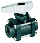"AA344M-2-3/4-PP, 3/4"" FPT 2-WAY BALL VALVE"
